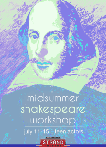 Actor's workshop that delves into Shakespearian works with final performance for teens. Click for more info.