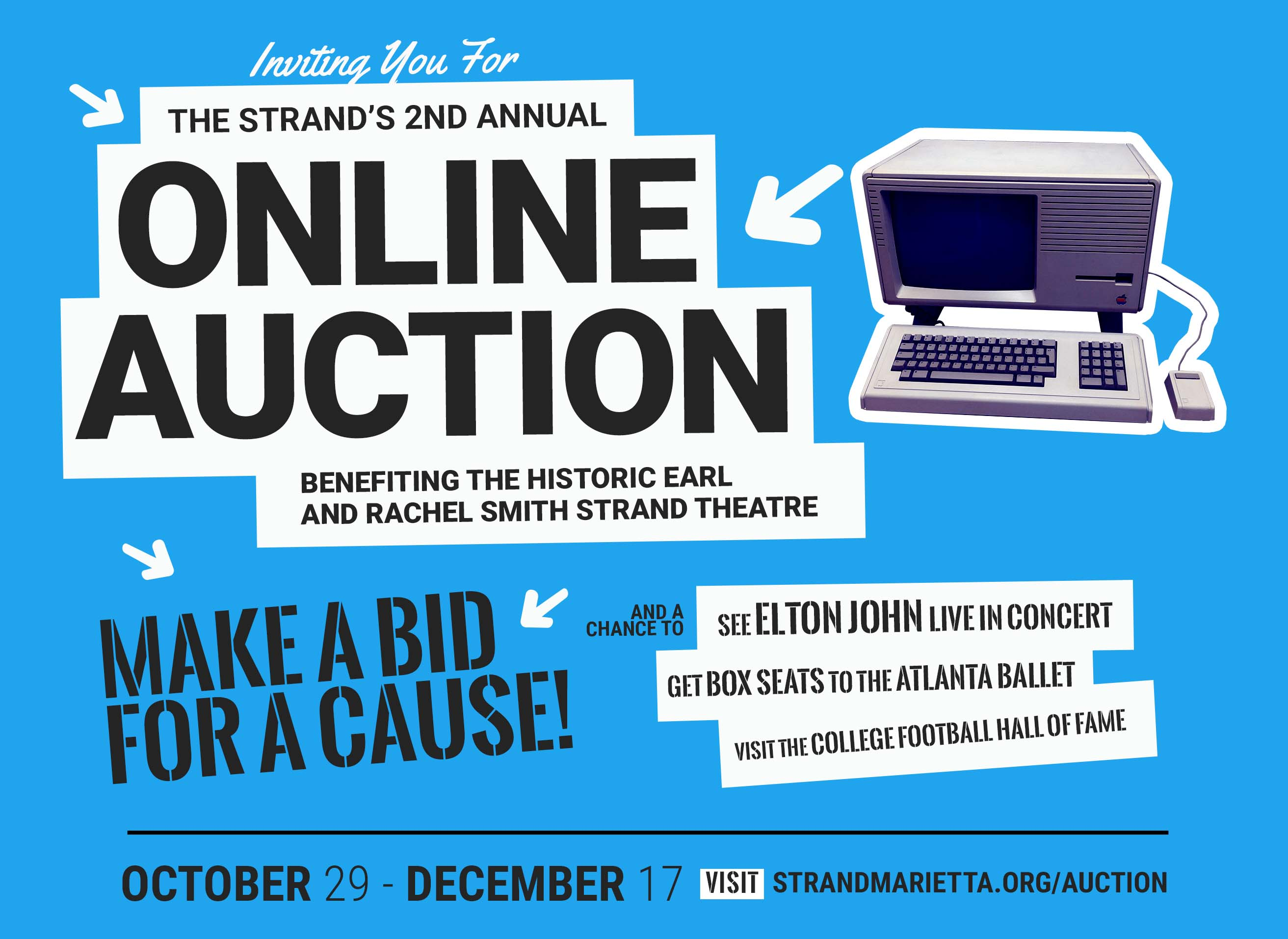 from now until december 17 were hosting an online silent auction on this very website bid on items you love win cool stuff and support the strand at
